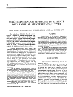 Schnlein-henoch syndrome in patients with familial mediterranean fever.