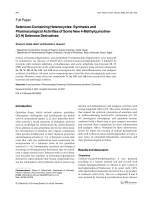 Selenium-Containing HeterocyclesSynthesis and Pharmacological Activities of Some New 4-Methylquinoline-21H Selenone Derivatives.