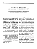 Serologic subsets in systemic lupus erythematosus.