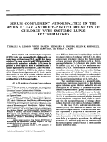 Serum complement abnormalities in the antinuclear antibody-positive relatives of children with systemic lupus erythematosus.