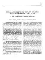 Social and economic impacts of four musculoskeletal conditions.