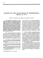 Studies on the nucleation of monsodium urate at 37╨Т┬░C.