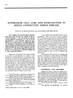 Suppressor cell loss and dysfunction in mixed connective tissue disease.