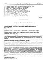 Syntheses and Biological Activities of 14-Disubstituted Piperidines.