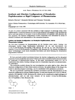 Synthesis and Absolute Configurations of Hexahydro-Naphthoxazines as Rigid Congeners of Phenmetrazine.