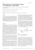 Synthesis and Activity of the Glutathione Analogue ╨Ю╤Ц-L-╨Ю╤Ц-Oxaglutamyl-L-cysteinyl-glycine.