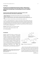 Synthesis and Antibacterial Activity of New 7-Piperazinyl-quinolones Containing a Functionalized 2-Furan-3-ylethyl Moiety.