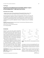Synthesis and Antidepressant-Like Profile of Novel 1-Aryl-3-[4-benzylpiperidine-1-yl]propane Derivatives.