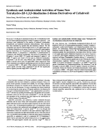 Synthesis and Antimicrobial Activities of Some New Tetrahydro-2H-135-thiadiazine-2-thione Derivatives of Cefadroxil.