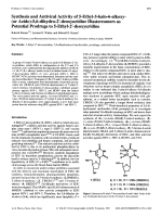 Synthesis and Antiviral Activity of 5-Ethyl-5-halo-6-alkoxy-or Azido-56-dihydro-2 В╨Ж-deoxyuridine Diastereomers as Potential Prodrugs to 5-Ethyl-2 В╨Ж-deoxyuridine.