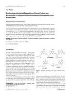 Synthesis and Antiviral Evaluation of Novel Cyclopropyl Nucleosides Phosphonate Nucleosides and Phosphonic Acid Nucleosides.