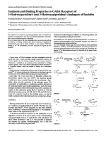 Synthesis and Binding Properties to GABA Receptors of 3-Hydroxypyridinyl- and 3-Hydroxypiperidinyl-Analogues of Baclofen.