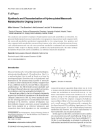Synthesis and Characterization of Hydroxylated Mesocarb Metabolites for Doping Control.