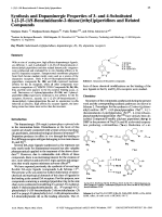Synthesis and Dopaminergic Properties of 3- and 4-Substituted 1-{2-[5-1H-Benzimidazole-2-thione]ethyl}piperidines and Related Compounds.