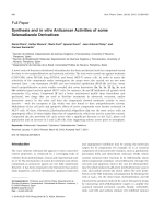Synthesis and in vitro Anticancer Activities of some Selenadiazole Derivatives.