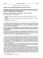 Synthesis of Vinca Alkaloids and Related Compounds XXXIV Synthesis of 3S 14S 16S-Bromovincamines and Bromoapovincamines by Regioselective Bromination.
