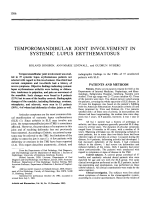 Temporomandibular joint involvement in systemic lupus erythematosus.