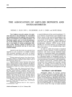 The association of amyloid deposits and osteoarthritis.