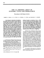 The C1q binding assay in systemic lupus erythematosus.