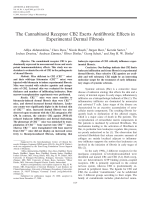 The cannabinoid receptor CB2 exerts antifibrotic effects in experimental dermal fibrosis.