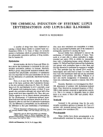 The chemical induction of systemic lupus erythematosus and lupus-like illnesses.