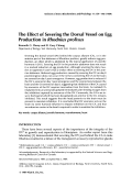 The effect of severing the dorsal vessel on egg production in Rhodnius prolixus.