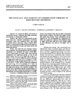 The efficacy and toxicity of combination therapy in rheumatoid arthritis. a meta-analysis