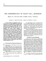 The epidemiology of giant cell arteritis. Report of a Ten-Year Study in Shelby County Tennessee