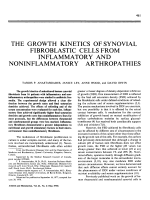 The growth kinetics of synovial fibroblastic cells from inflammatory and noninflammatory arthropathies.