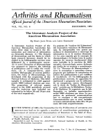 The literature analysis project of the American Rheumatism Association.