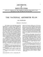 The national arthritis plan.
