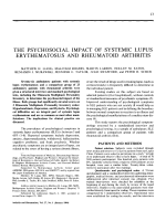 The psychosocial impact of systemic lupus erythematosus and rheumatoid arthritis.