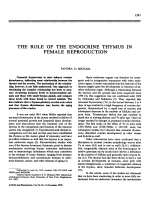 The role of the endocrine thymus in female reproduction.