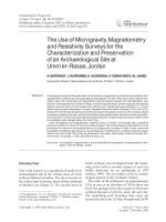 The use of microgravity magnetometry and resistivity surveys for the characterization and preservation of an archaeological site at Umm er-Rasas Jordan.
