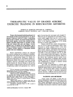 Therapeutic value of graded aerobic exercise training in rheumatoid arthritis.