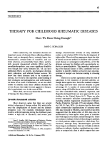 Therapy for childhood rheumatic diseases. have we been doing enough