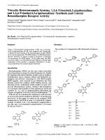 Tricyclic Heteroaromatic Systems. 124-Triazolo[43-a]quinoxalines and 124-Triazino[43-a]quinoxalinesSynthesis and Central Benzodiazepine Receptor Activity