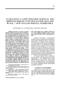 Ultraviolet-a light prolongs survival and improves immune function in new zealand black  Ф new zealand whiteF1 hybrid mice.