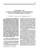Variability of plasma hydralazine concentrations in male hypertensive patients.