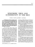 Xenotropic virus and autoimmunity in NZB mice.