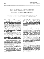 Degenerative lumbar spinal stenosis diagnostic value of the history and physical examination.