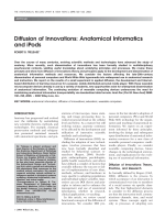 Diffusion of innovationsAnatomical informatics and iPods.
