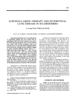 D-penicillamine therapy and interstitial lung disease in scleroderma. a long-term followup study
