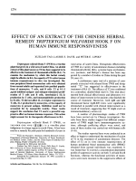 Effect of an Extract of the Chinese Herbal Remedy Tripterygium Wilfordii Hook F on Human Immune Responsiveness.