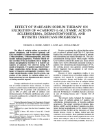 Effect of warfarin sodium therapy on excretion of 4-carboxy-L-glutamic acid in scleroderma dermatomyositis and myositis ossificans progressiva.