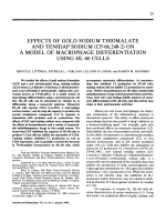 Effects of gold sodium thiomalate and tenidap sodium CP-662482 on a model of macrophage differentiation using HL-60 cells.