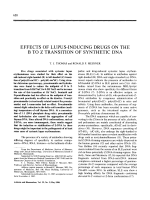 Effects of lupus-inducing drugs on the B to Z transition of synthetic DNA.