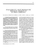 EVALUATION OF A PILOT PROGRAM FOR RHEUMATIC DISABILITY IN AN URBAN COMMUNITY.