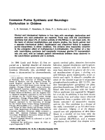 Excessive purine synthesis and neurologic dysfunction in children.