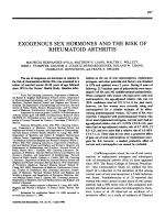 Exogenous sex hormones and the risk of rheumatoid arthritis.
